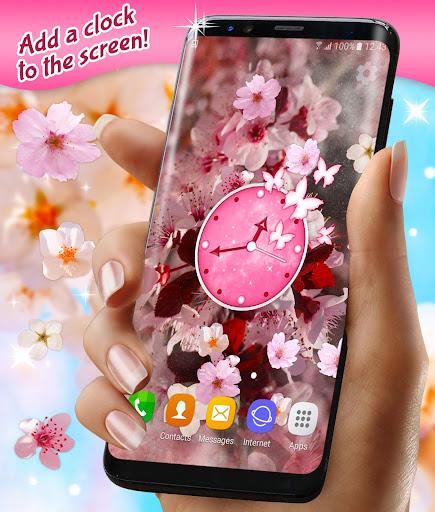 Sakura Parallax Live Wallpaper ud83cudf38 3D Blossoms screenshots 1