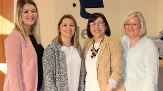 De izquierda a derecha, Belén Sánchez, Iris Hernández, Gema Cara y Ana Portero.