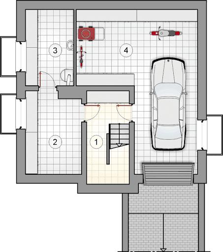 Polo IV - Rzut piwnicy