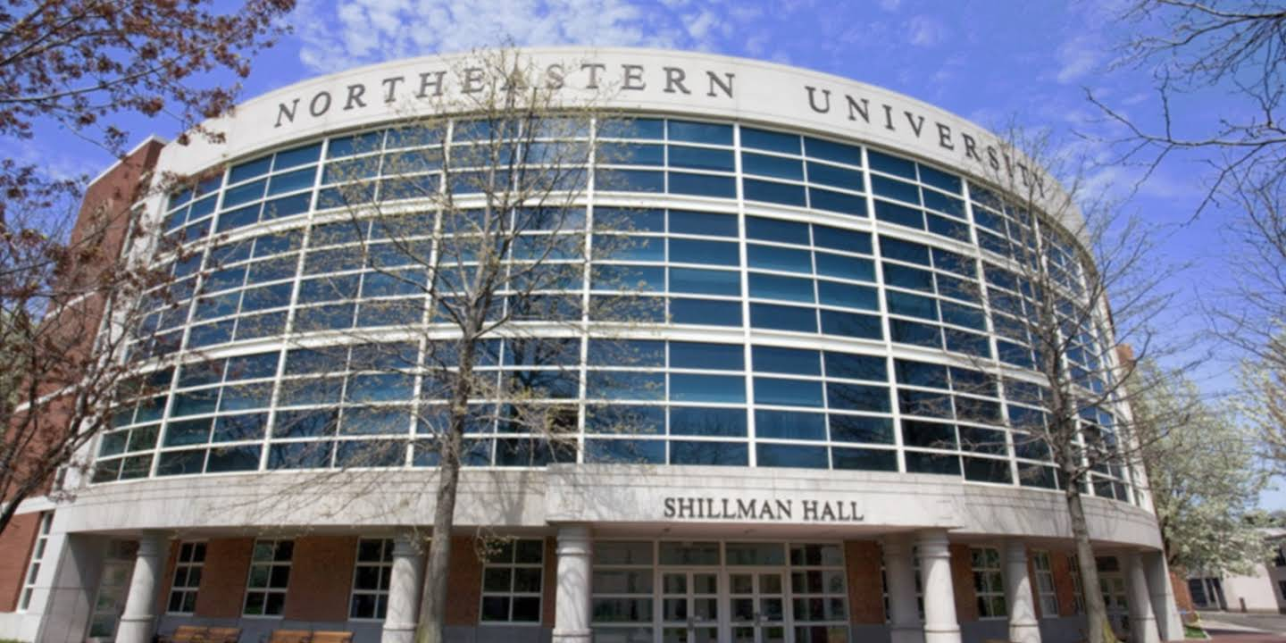A picture of Shillman Hall at Northeastern University campus.