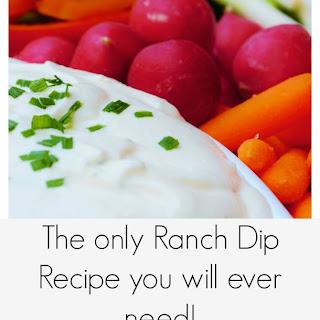 Homemade Ranch Dip Recipe
