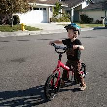 Photo: Finn on a glide bike!