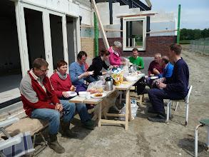 Photo: na hard werken, tijd voor de lunch