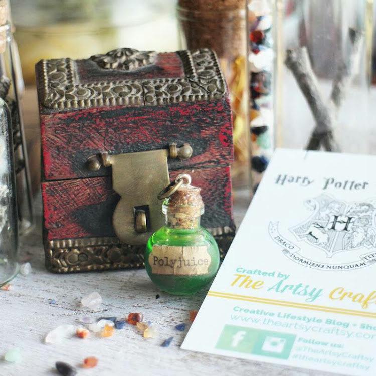 Harry Potter Inspired Potion Pendant - Polyjuice by The Artsy Craftsy