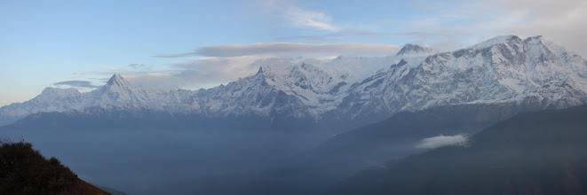Photo: De l'Annapurna Sud au Lamjung depuis Chomro Dharmasala