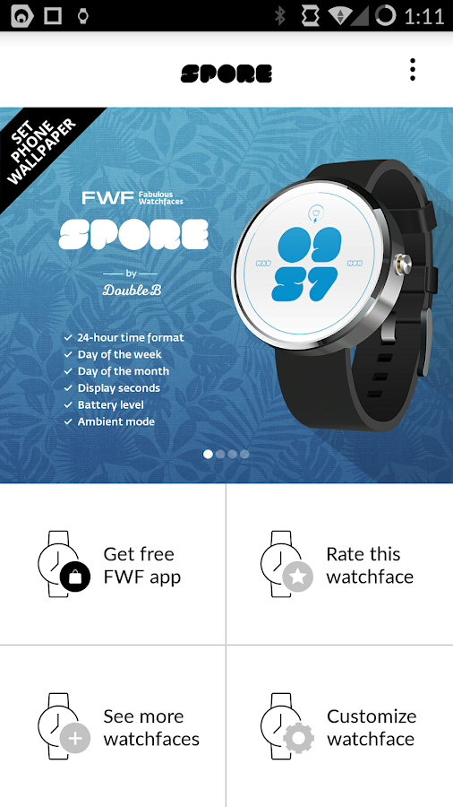 Spore Android Watch Face FWF- screenshot