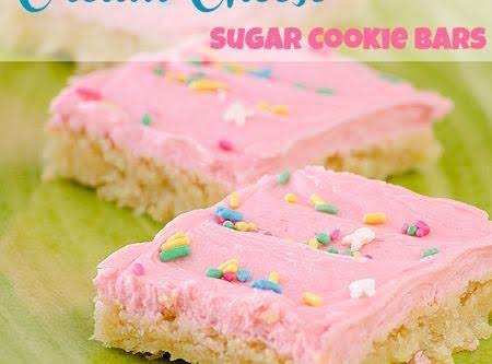 Cream Cheese Sugar Cookie Bars - Real Mom Kitchen Recipe