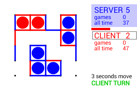 Dots and Boxes LAN- screenshot