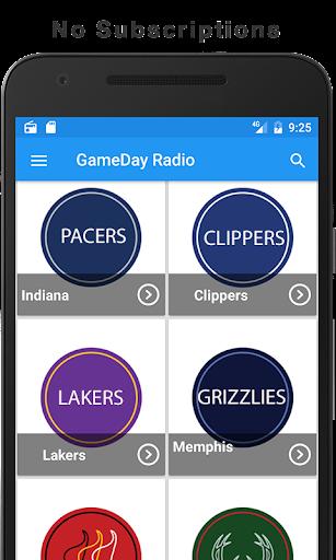 GameDay Pro Basketball Radio for NBA 1.1 screenshots 4
