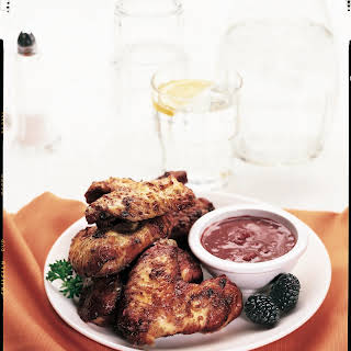 Blackberry Glazed Wings with Dipping Sauce.
