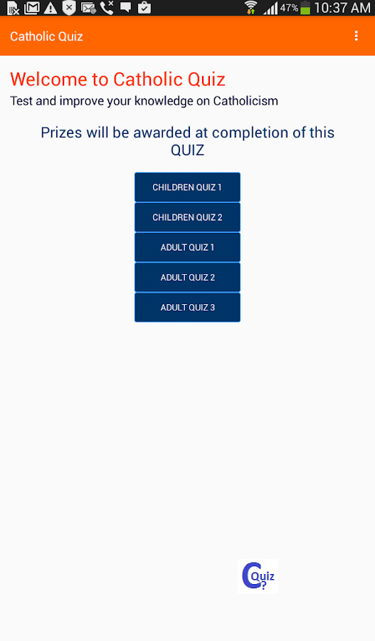 Catholic Quiz- screenshot