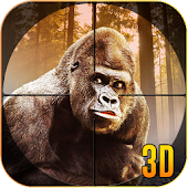 Wild Gorilla Animal Hunting 3D