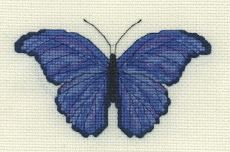 Photo: Completed 31 Dec 2006. Last project of the year. First in the series of three butterflies. It's one of those hanger-on WIPs.
