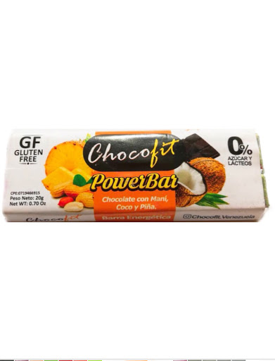 chocolate chocofit mani-coco-pina sin gluten 20g