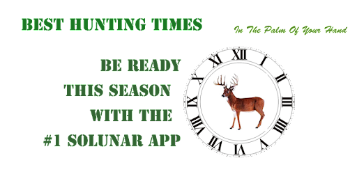 Best Time To Hunt Deer Moon Phase 2019 Best Hunting Times   Apps on Google Play