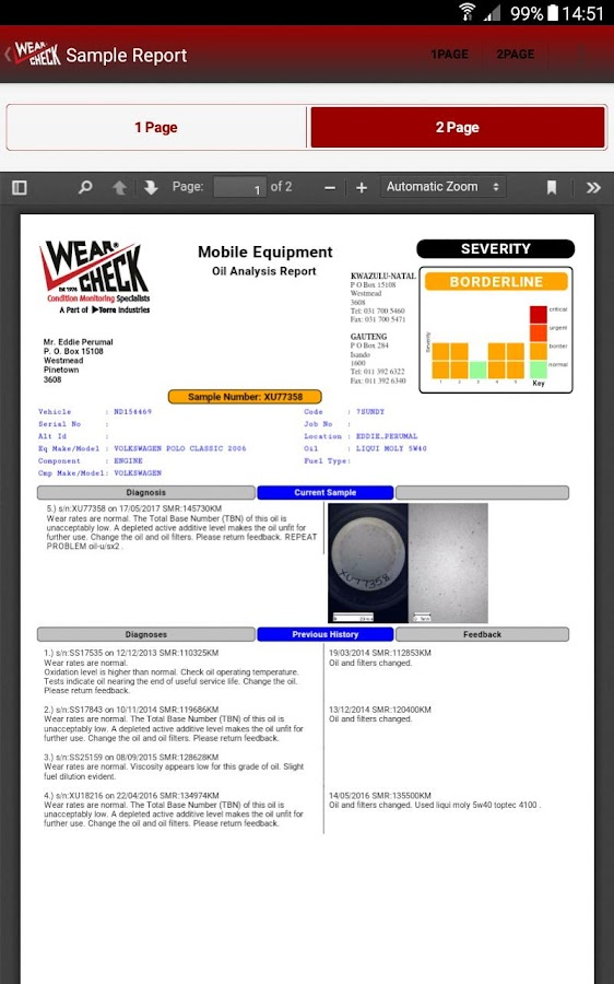WearCheck Mobile- screenshot