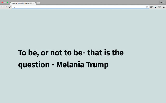 Melania Trump Motivational Quotes