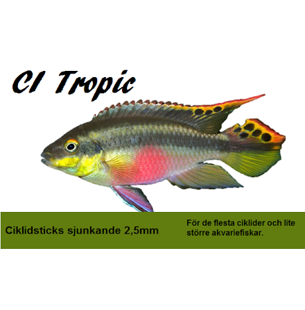Ciklidsticks sjunkande 2,5mm