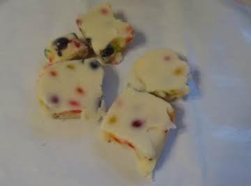 White Jelly Bean Fudge