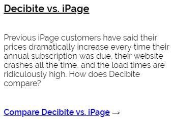Decibite vs iPage