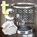 Trash Can the paper toss game icon