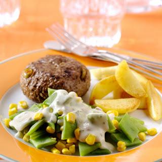 Snijboonruitjes En Maïs Met Ham-kaassaus & Tartaartjes Met Gevulde Olijven