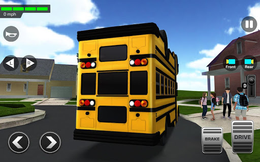 Super High School Bus Driving Simulator 3D - 2020 apkdebit screenshots 9
