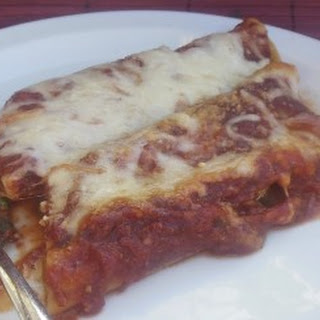 Baked Chicken and Spinach Manicotti