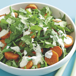 Roasted Sweet Potato and Arugula Salad