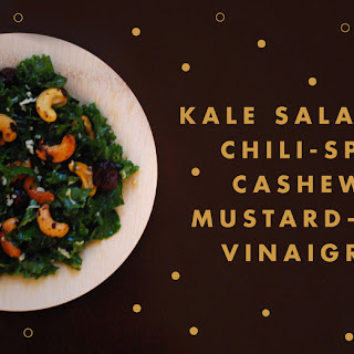 Kale Salad With Chili-spiced Cashews & Mustard-maple Vinaigrette