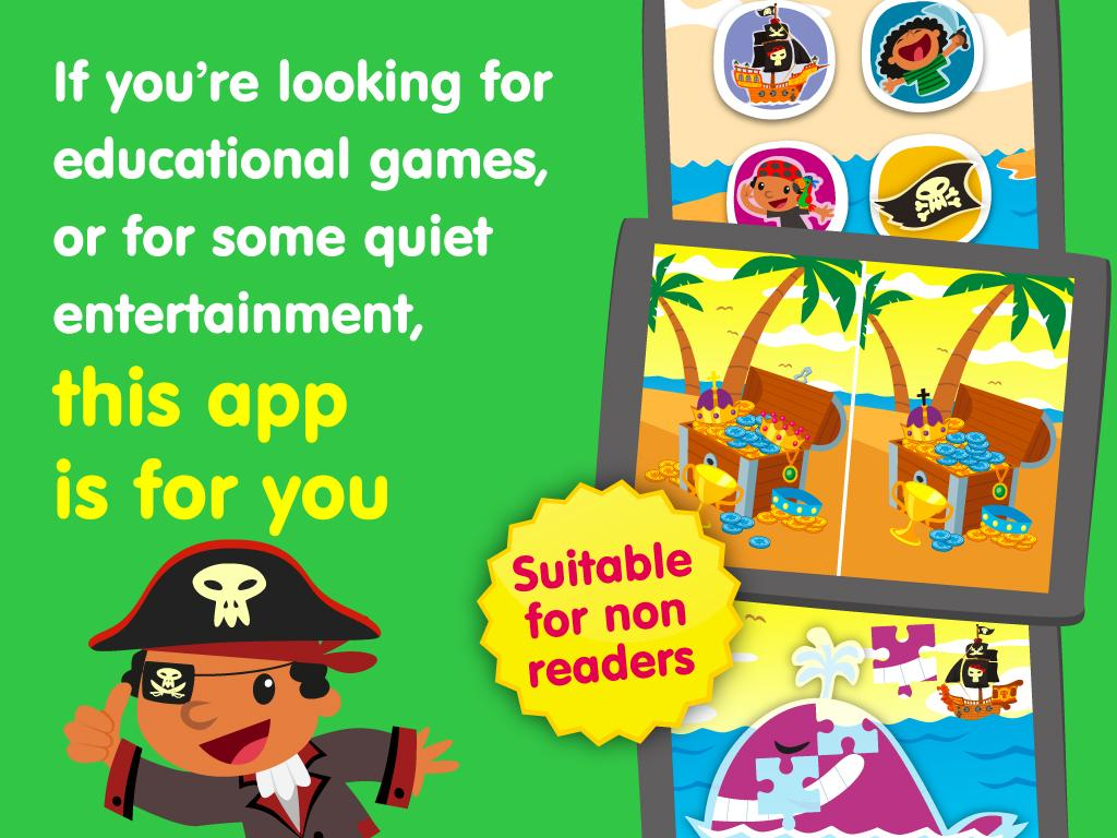 Planet Pirates, games for kids- screenshot