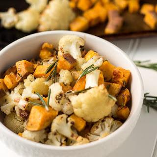 Roasted Cauliflower and Sweet Potato.