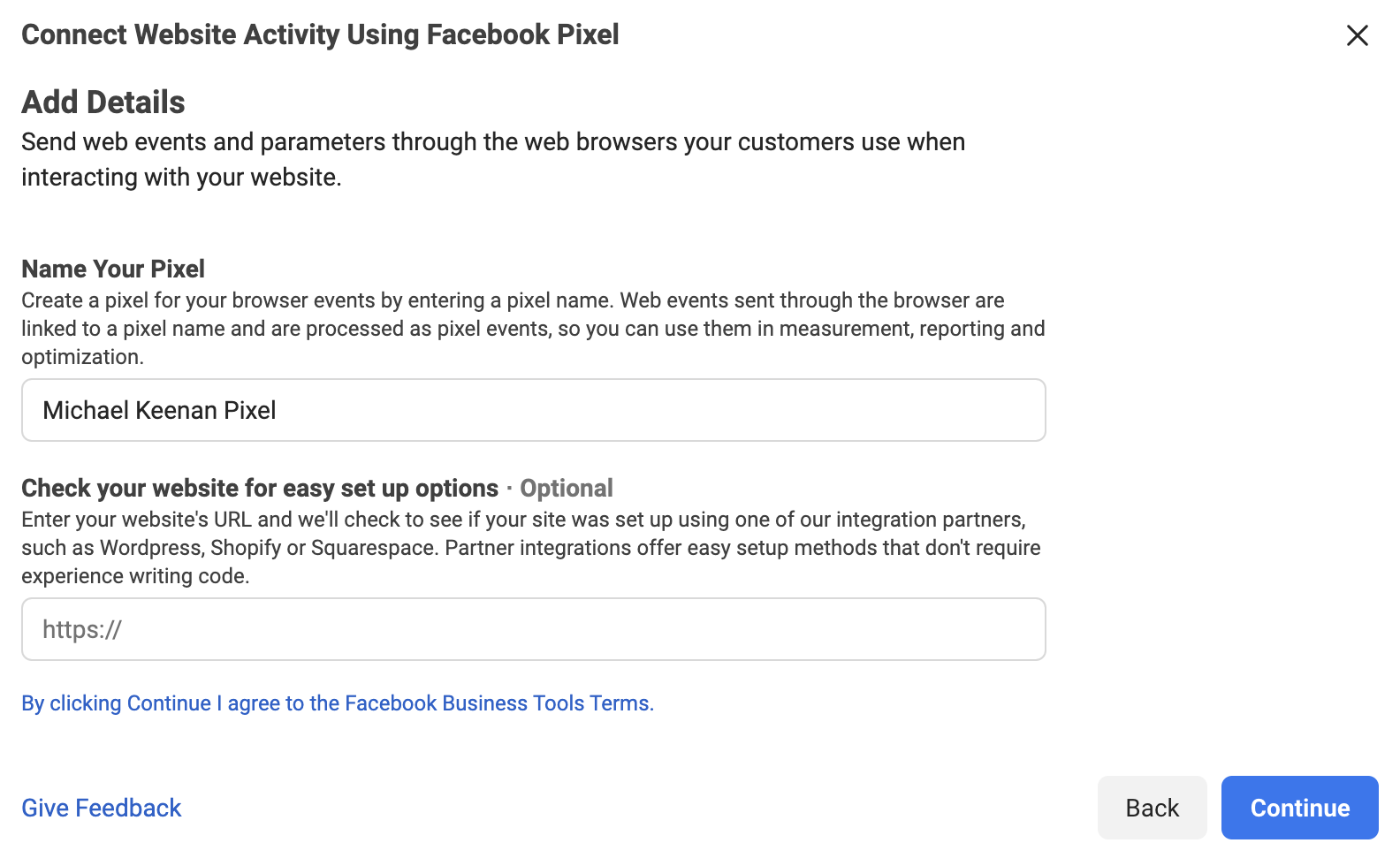 Connecting Website Activity Using Facebook Pixel