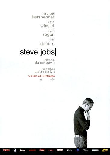 Przód ulotki filmu 'Steve Jobs'