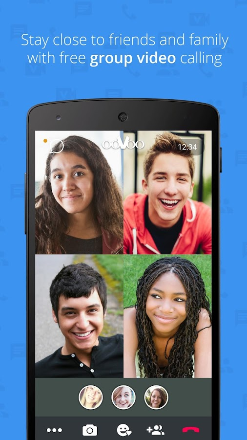 Screenshots of ooVoo Video Call, Text & Voice for Android