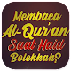 Membaca Al-Qur'an Saat Haidh, Bolehkah - Pdf Download on Windows