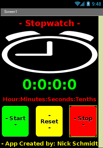 Simple Stopwatch Lap Counter
