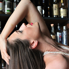 In my own way... by Marsha Grimm - People Portraits of Women ( elegance, beauty, bar,  )