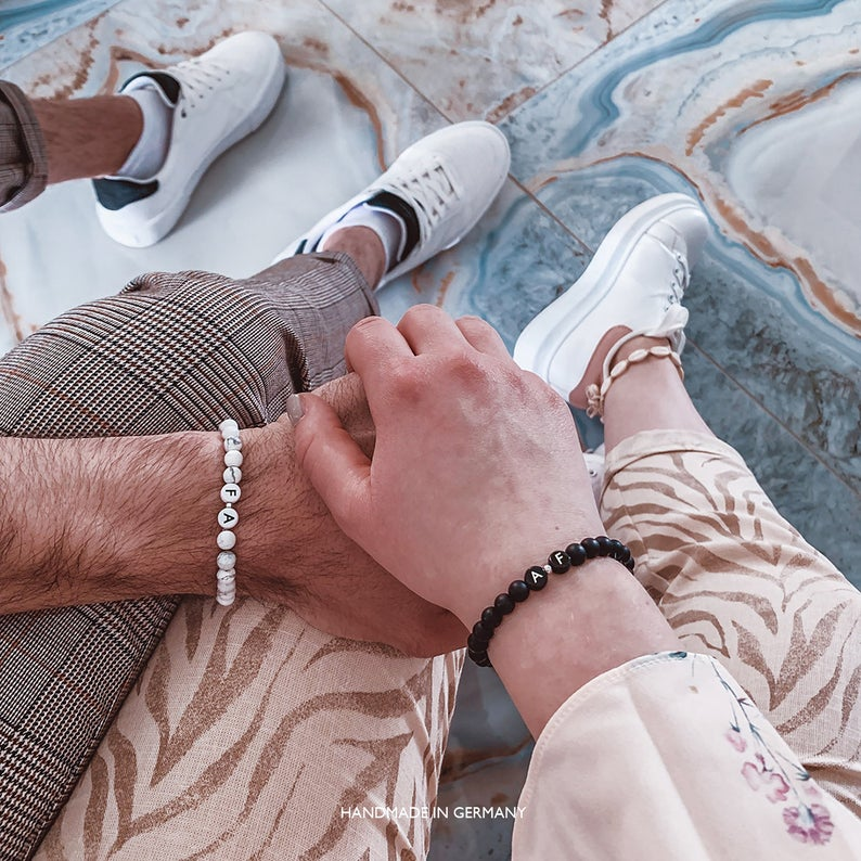 matching bracelets for your one year anniversary on Etsy
