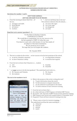 Contoh Soal Essay Bahasa Inggris Kelas 9 Beserta Jawabannya : contoh, essay, bahasa, inggris, kelas, beserta, jawabannya, Essay, Bahasa, Inggris, Kelas, Semester