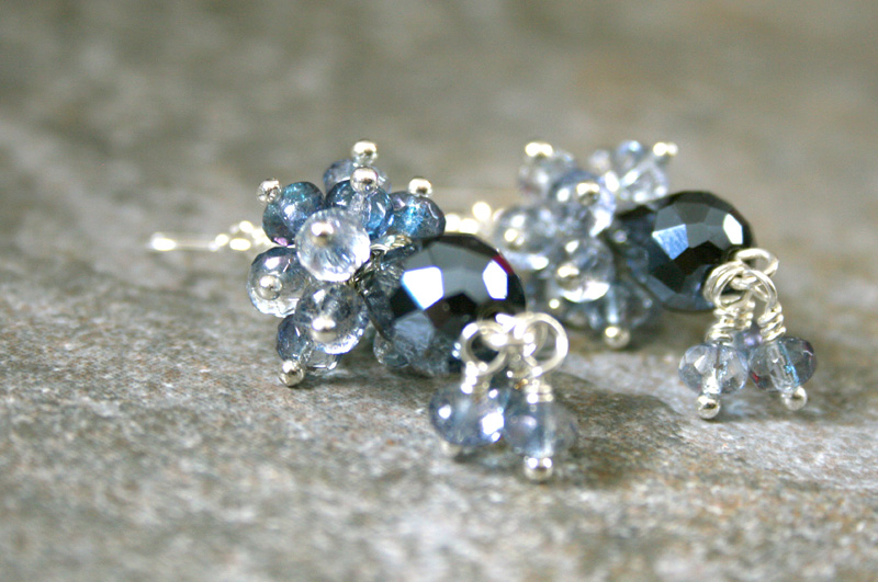 Photo: http://www.etsy.com/shop/AhteesDesigns Crystal cluster earrings featured in Spring 2012 Jewelry Affaire