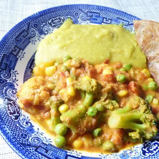 Easy Frozen Vegetable Masala.
