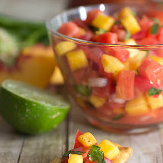 Heirloom Tomato and Peach Salsa.