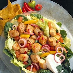 Stir-Fried Southwestern Pork Salad
