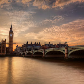 Westminster Bridge by Richard  Harris - Buildings & Architecture Bridges & Suspended Structures ( westminster bridge )
