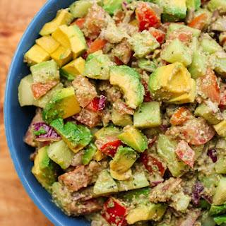 Summer Veggie Salad with Dairy-Free Pesto.
