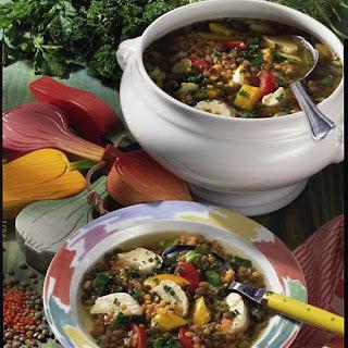 Summer Lentil and Chicken Soup.