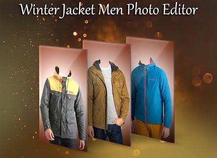 Winter Jacket Men Photo Suit - náhled