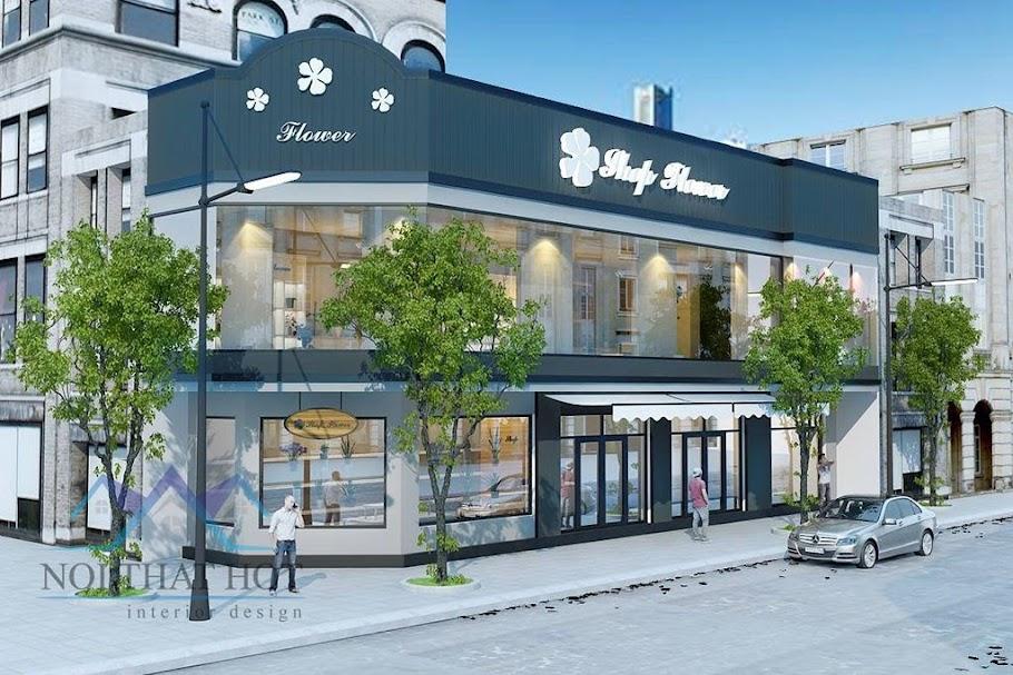 thiết kế cửa hàng hoa diện tích lớn