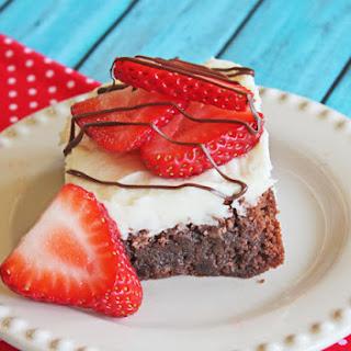 White Chocolate Strawberry Brownies